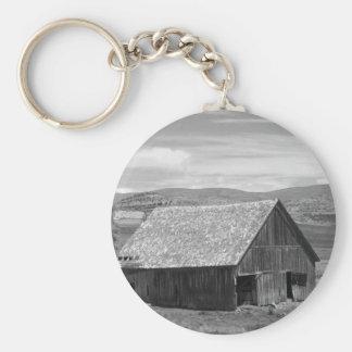 Beautiful Old Barn Basic Round Button Key Ring