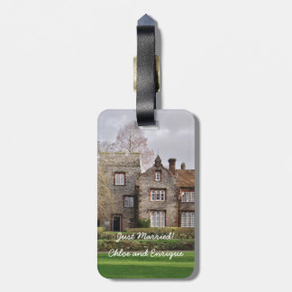 Beautiful Old Building Wedding Bag Tag