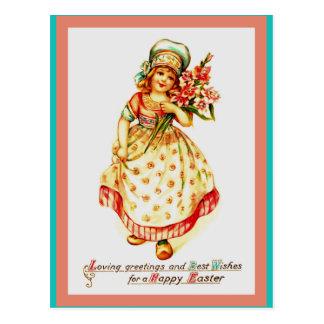 Beautiful Old Easter European Image on Postcard