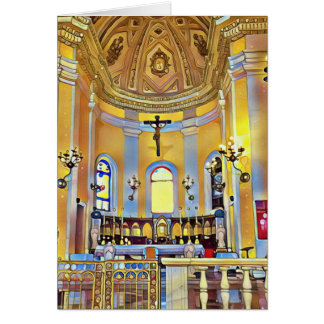Beautiful Old San Juan Artistic Sanctuary Card