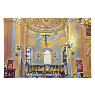 Beautiful Old San Juan Artistic Sanctuary Placemat