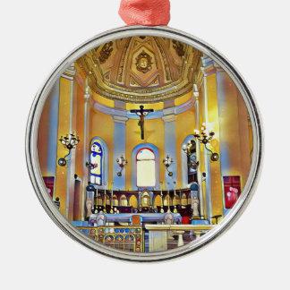 Beautiful Old San Juan Artistic Sanctuary Silver-Colored Round Decoration