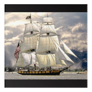 Beautiful Old Ship and Sails Nautical Wall Art