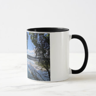 Beautiful Olympia mug with image of Eld Inlet.