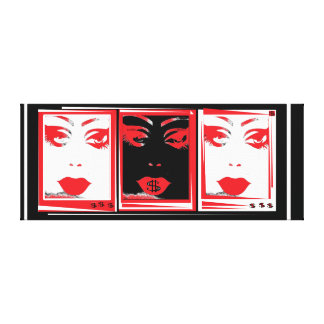 Beautiful $ one thing in common, Red & Black Canvas Print