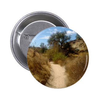 Beautiful Open Hiking Trail in the Dry Brush 6 Cm Round Badge