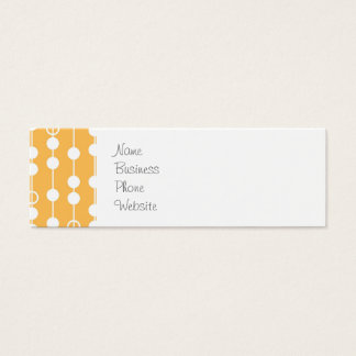 Beautiful Orange and White Hanging Beads Pattern Mini Business Card