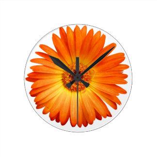 Beautiful Orange and Yellow Gerbera Daisy Wallclock