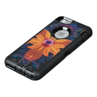 Beautiful Orange-Blue Fractal Angel Orchid Flower OtterBox Defender iPhone Case