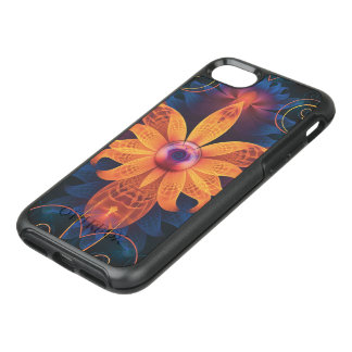 Beautiful Orange-Blue Fractal Angel Orchid Flower OtterBox Symmetry iPhone 8/7 Case
