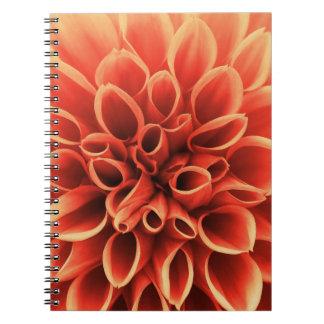 Beautiful Orange Dahlia Flower Notebook