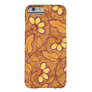 Beautiful orange Flowers Pattern Barely There iPhone 6 Case
