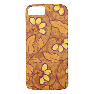Beautiful orange Flowers Pattern iPhone 7 Case