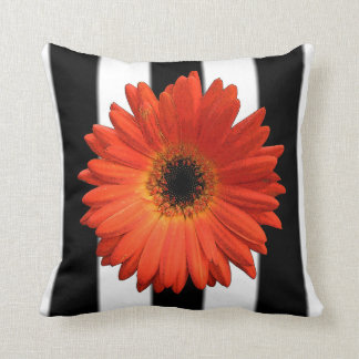 Beautiful Orange Gerbera Daisy Cushion