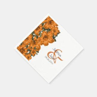 Beautiful Orange Lilies Disposable Napkins
