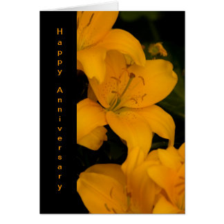 Beautiful Orange Lily Flowers Anniversary card