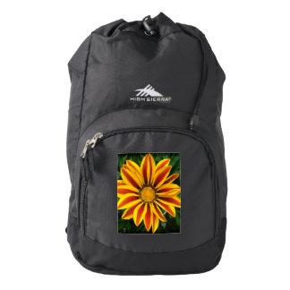 Beautiful Orange Sun Flower Photo Backpack