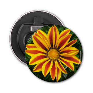 Beautiful Orange Sun Flower Photo Bottle Opener