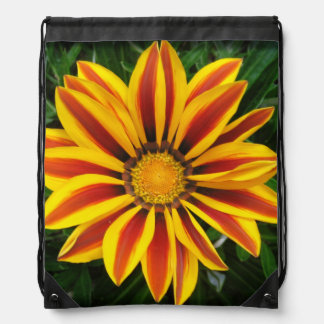 Beautiful Orange Sun Flower Photo Drawstring Bag