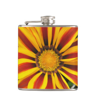 Beautiful Orange Sun Flower Photo Hip Flask