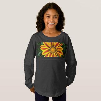 Beautiful Orange Sun Flower Photo Jersey Shirt