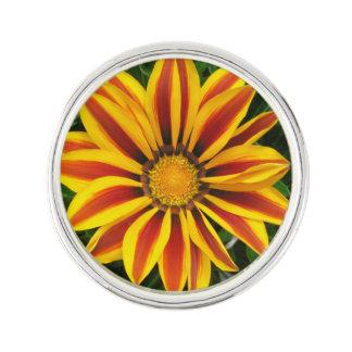 Beautiful Orange Sun Flower Photo Lapel Pin