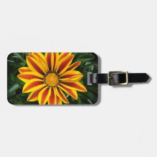 Beautiful Orange Sun Flower Photo Luggage Tag