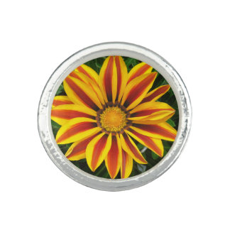 Beautiful Orange Sun Flower Photo Ring