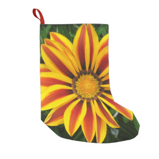 Beautiful Orange Sun Flower Photo Small Christmas Stocking