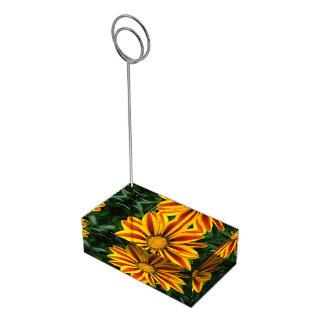 Beautiful Orange Sun Flower Photo Table Card Holders