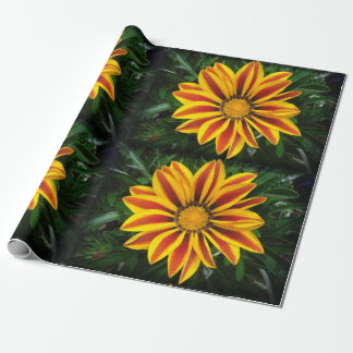 Beautiful Orange Sun Flower Photo Wrapping Paper