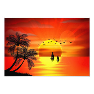 beautiful orange sunset art art photo