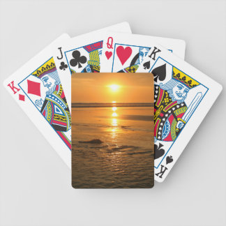 Beautiful orange sunset at the beach in Bali Bicycle Playing Cards