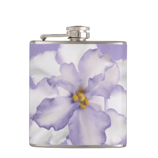 Beautiful Orchid Lavender Hip Flask