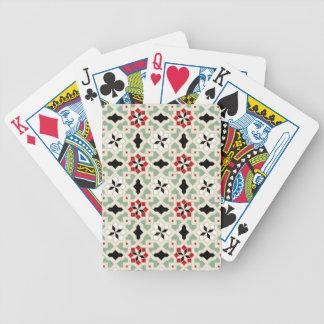 Beautiful oriental flower pattern 2 poker deck