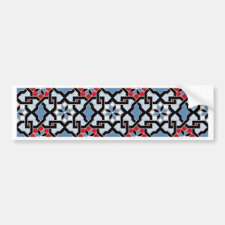 Beautiful oriental flower pattern 4 bumper sticker