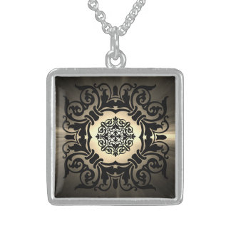 Beautiful Ornate Gothic Design! Sterling Silver Necklace