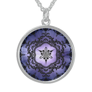 Beautiful Ornate Victorian Design! Sterling Silver Necklace