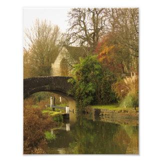 Beautiful Oxford Canal Scene, Shipton on Cherwell. Photo Print