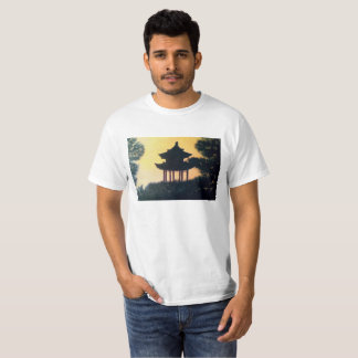 Beautiful Pagoda Silhouette Art Scenery Landscape T-Shirt