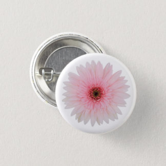 Beautiful Pale Pink Gerbera Daisy Flower 3 Cm Round Badge