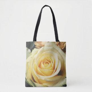 Beautiful Pale Yellow Rose Tote Bag