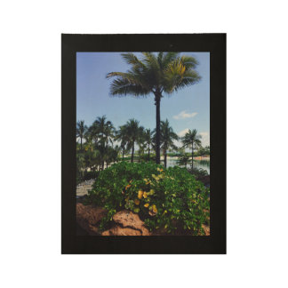 Beautiful Palm Tree Poster Wood Poster