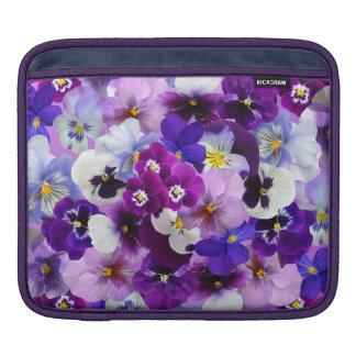 Beautiful Pansies Spring Flowers iPad Sleeve