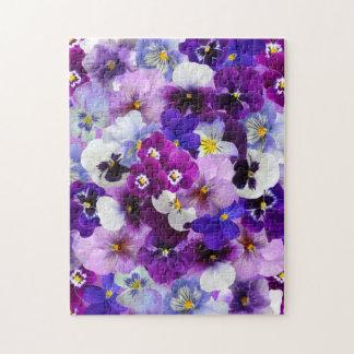 Beautiful Pansies Spring Flowers Jigsaw Puzzle