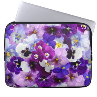 Beautiful Pansies Spring Flowers Laptop Sleeve