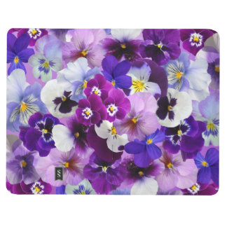 Beautiful Pansies Spring Flowers Pocket Journal