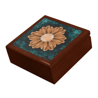 Beautiful Paradise Chrysanthemum of Orange & Aqua Gift Box