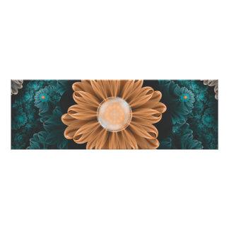 Beautiful Paradise Chrysanthemum of Orange & Aqua Photo Print