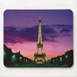 Beautiful Paris Eiffel Tower at Night Mouse Pad
